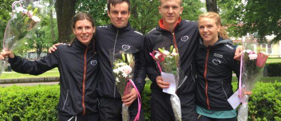 Dubbla medaljer på sprint-SM