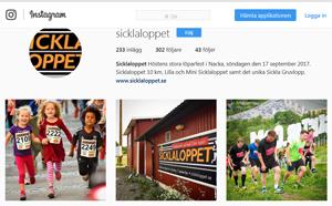 Följ Sicklaloppet och Stockholms Brantaste i våra sociala medier