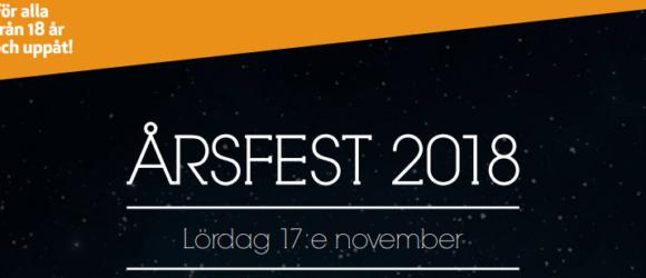 Inbjudan till Järlas årsfest 17 november