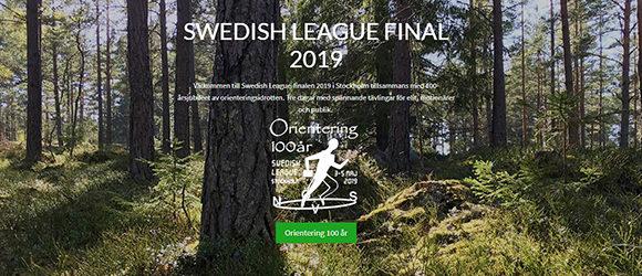 Nu öppnar vi webbsidan för Swedish League-finalen